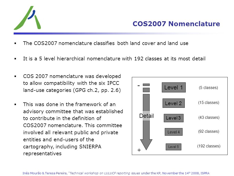 - COS2007 Nomenclature Level 1 Detail + Level 2