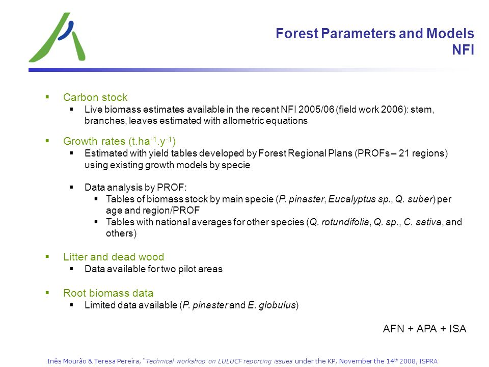 Forest Parameters and Models NFI