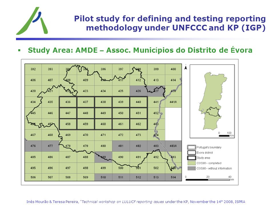 Pilot study for defining and testing reporting methodology under UNFCCC and KP (IGP)