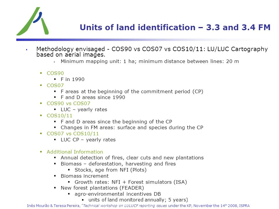 Units of land identification – 3.3 and 3.4 FM