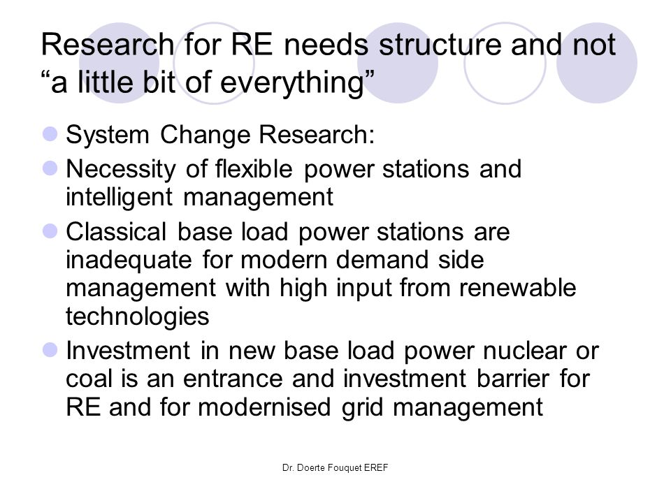 Research for RE needs structure and not a little bit of everything