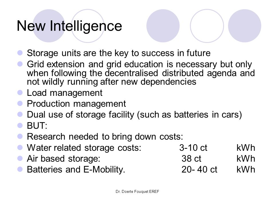 New Intelligence Storage units are the key to success in future
