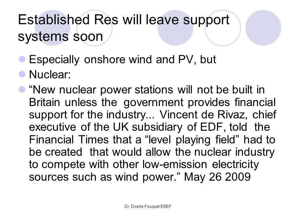 Established Res will leave support systems soon