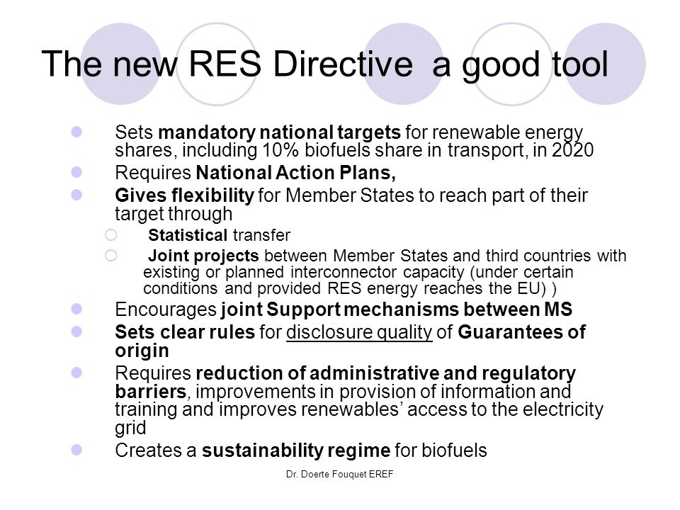 The new RES Directive a good tool