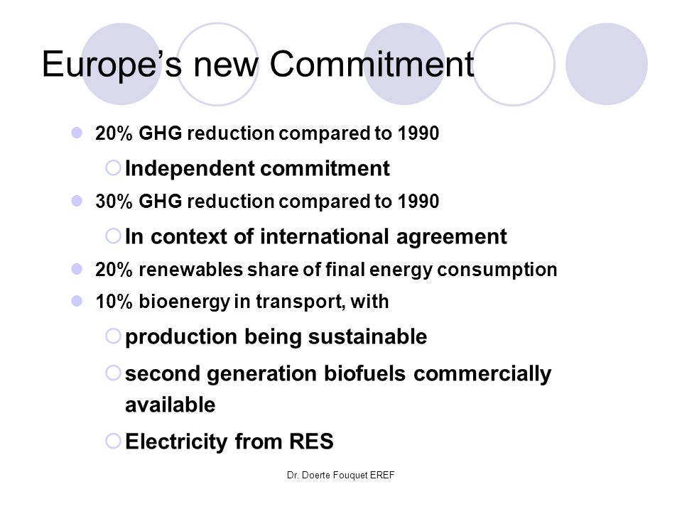 Europe's new Commitment