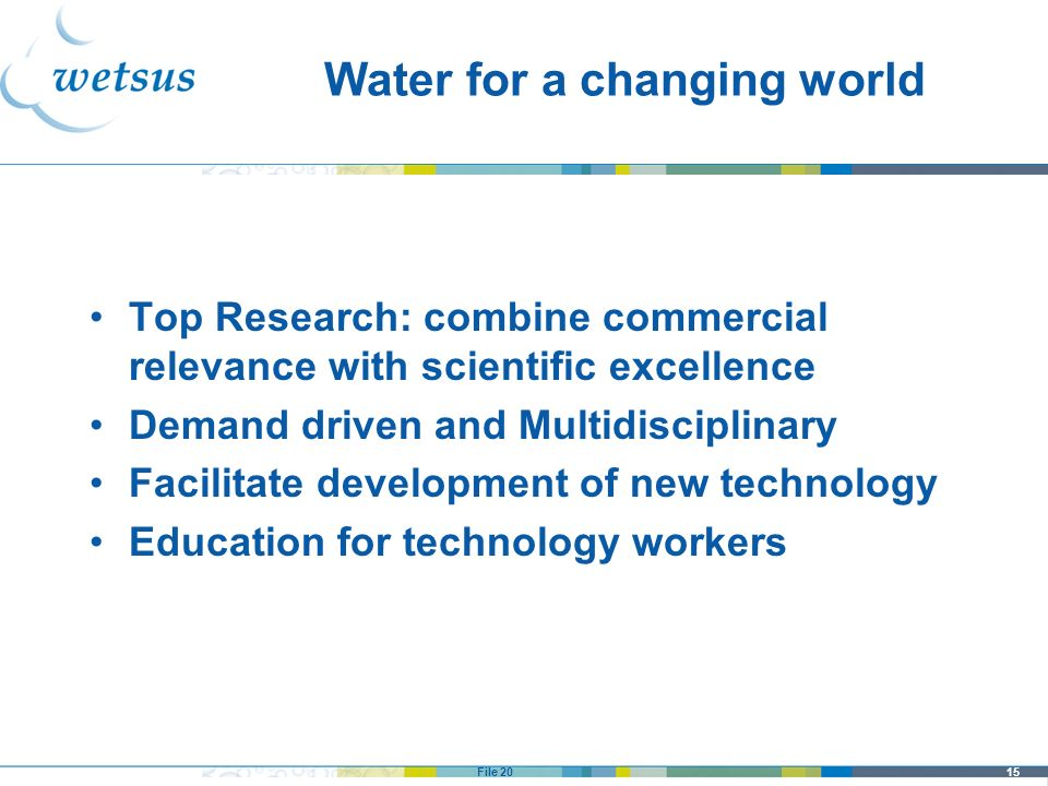 Water for a changing world