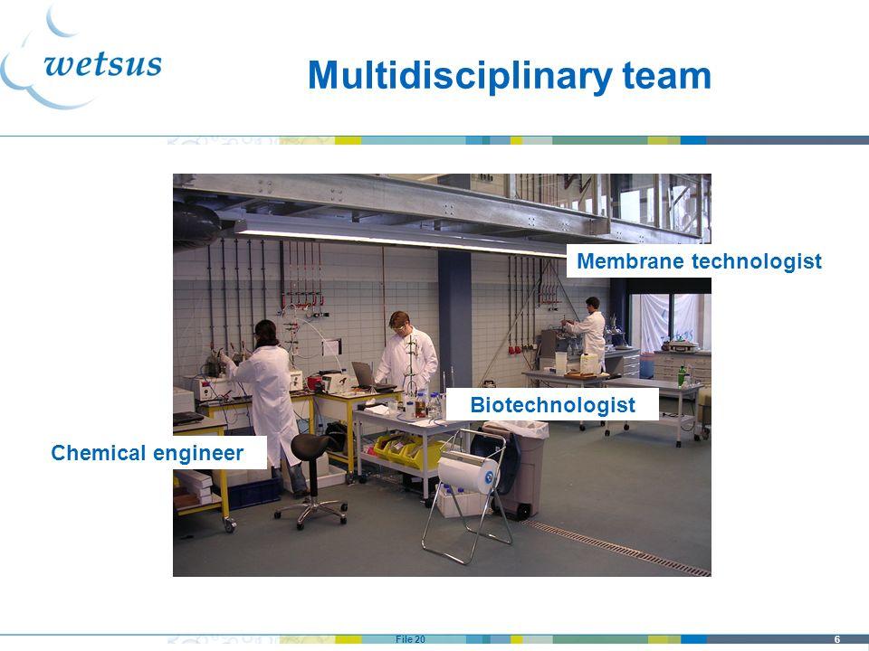 Multidisciplinary team Membrane technologist