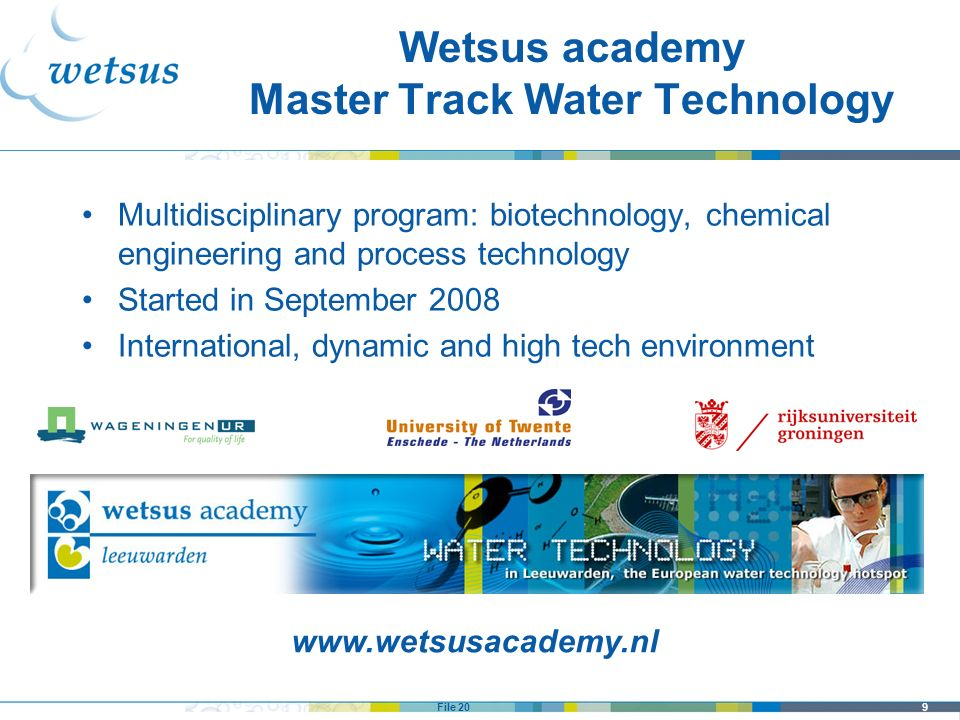 Wetsus academy Master Track Water Technology
