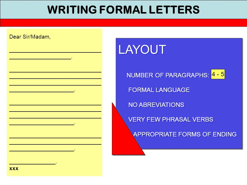 Writing Formal Letters ppt download