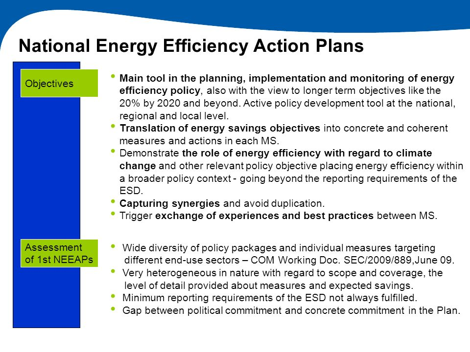National Energy Efficiency Action Plans