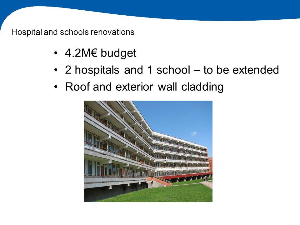Hospital and schools renovations