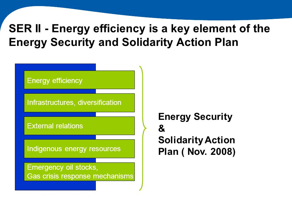 SER II - Energy efficiency is a key element of the Energy Security and Solidarity Action Plan