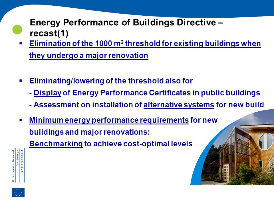Energy Performance of Buildings Directive – recast(1)