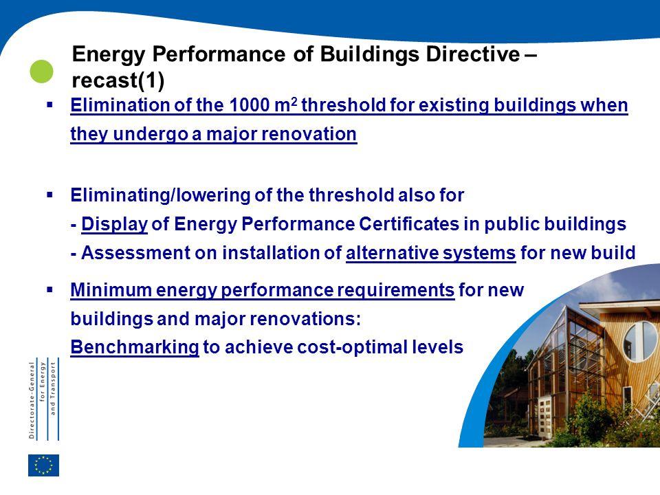 Energy Performance of Buildings Directive – recast(1)