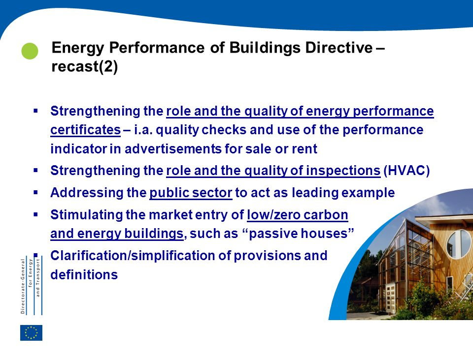 Energy Performance of Buildings Directive – recast(2)