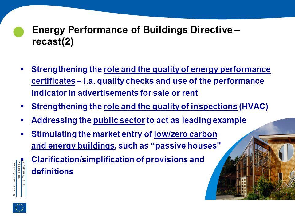 Energy Performance of Buildings Directive – recast(2)