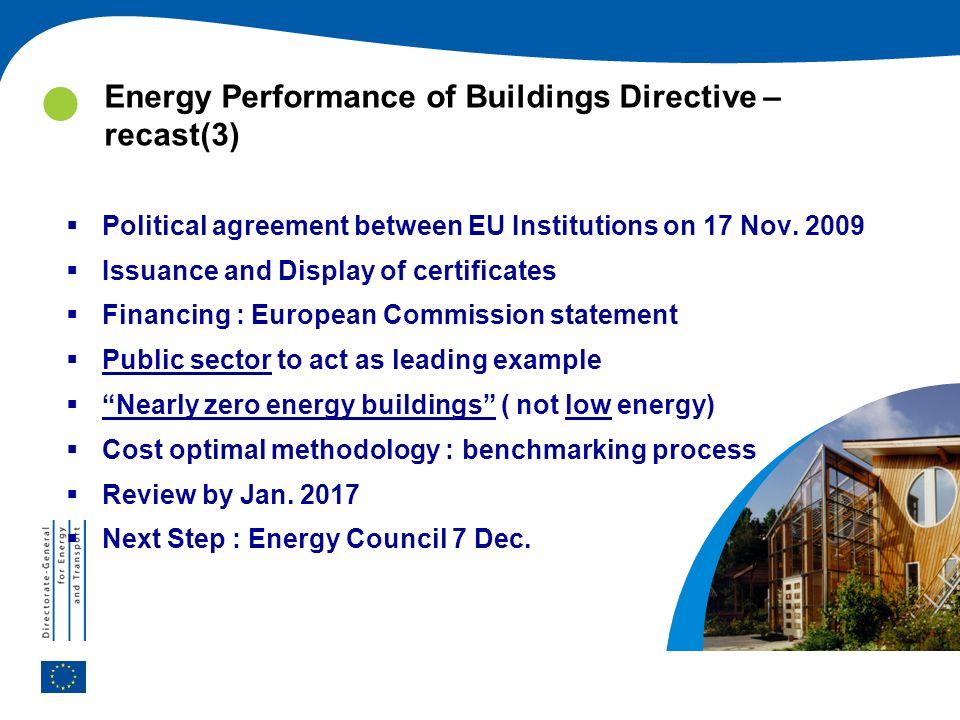 Energy Performance of Buildings Directive – recast(3)