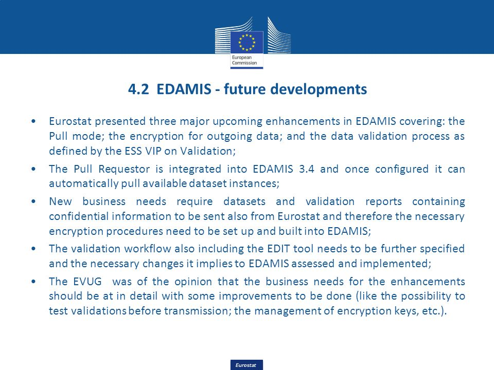 4.2 EDAMIS - future developments