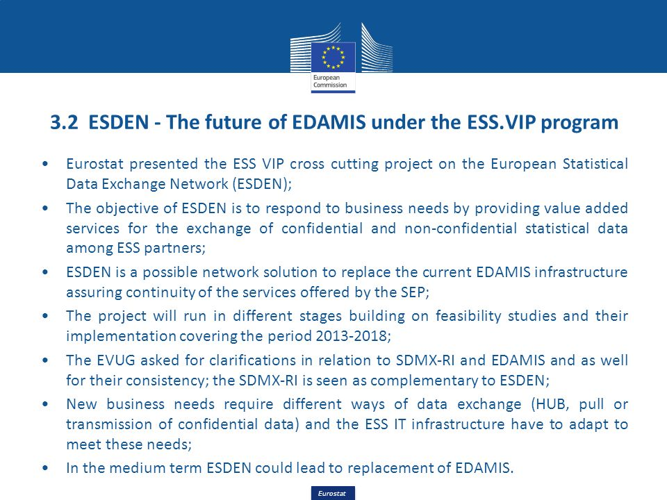 3.2 ESDEN - The future of EDAMIS under the ESS.VIP program