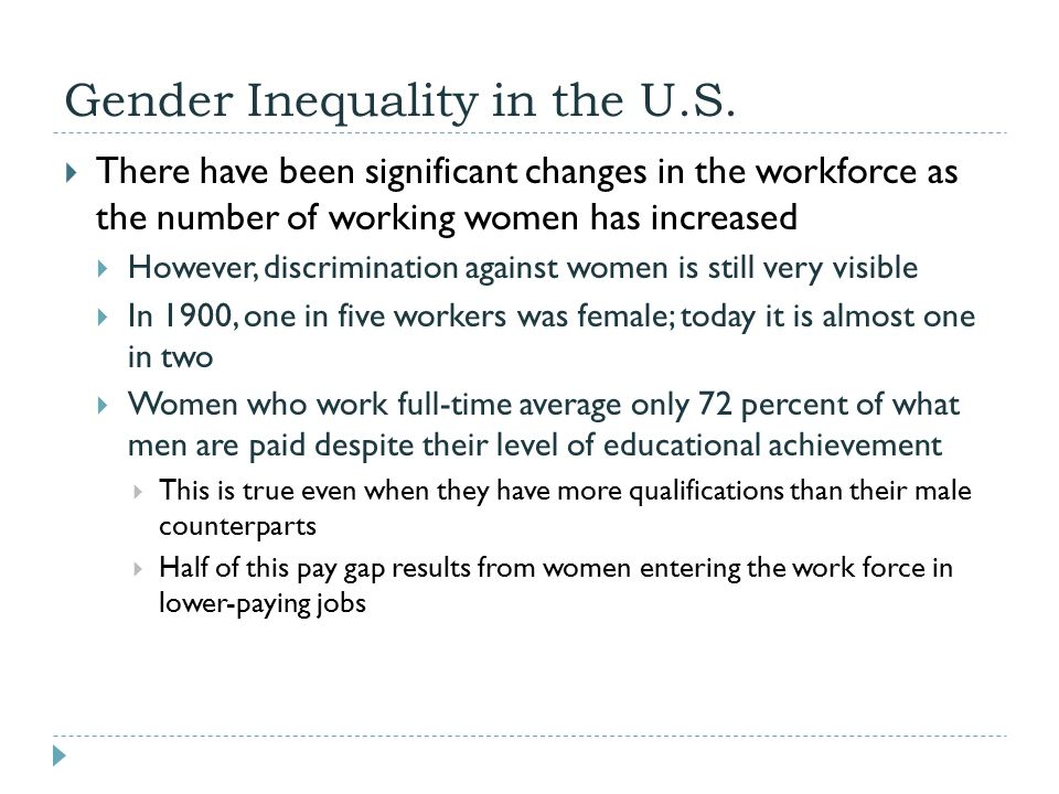gender inequality sociology Evidence from kat banyard (2010) the equality illusion- the truth about women and men today, faber and faber today it is normal for women to worry about their looks.