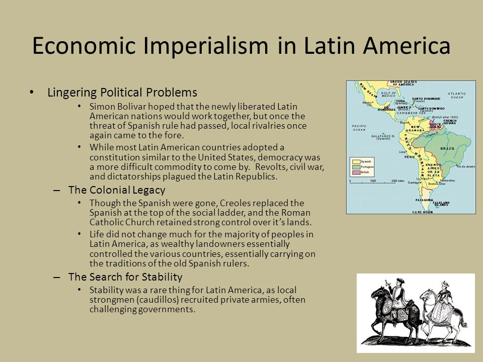 essay on imperialism in latin america Imperialism unit - enduring understandings  students will critique us influence over latin america after the spanish american war and determine its impact on us global relations.