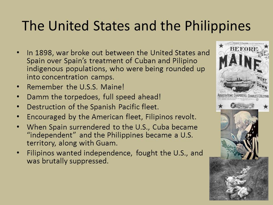 the philippines between the united states essay Migration from the philippines to the united states began in the late 19 th  between 1980 and 2016, the  filipinos and all immigrants in the united states by.