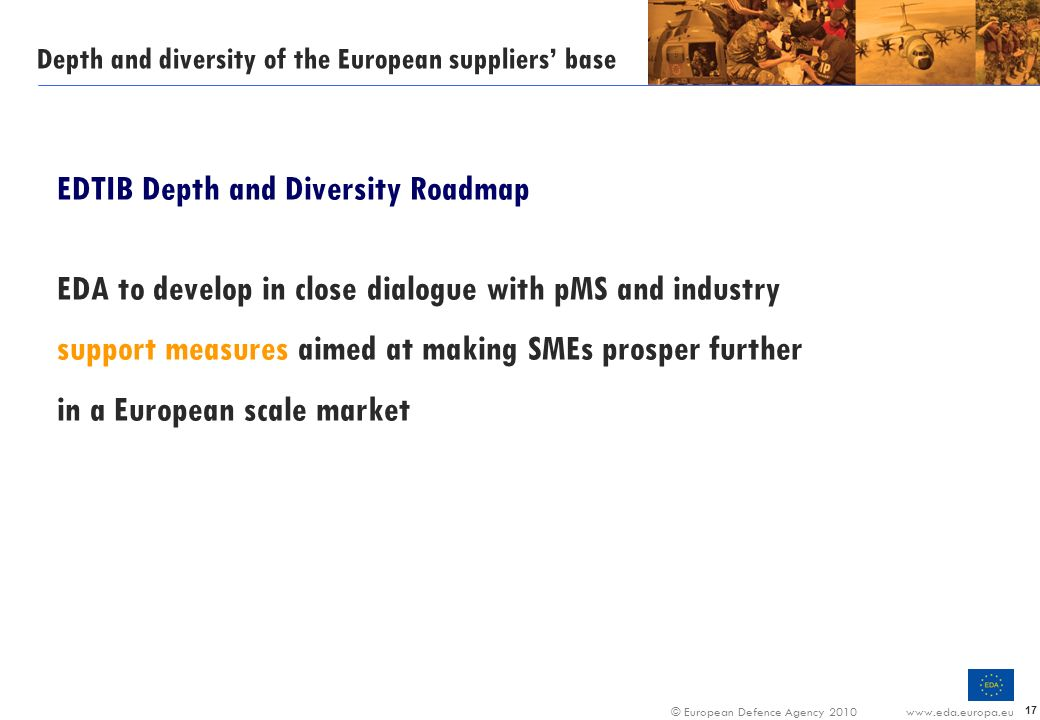 Depth and diversity of the European suppliers' base