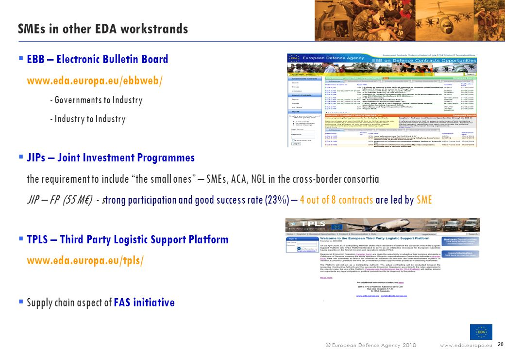 SMEs in other EDA workstrands