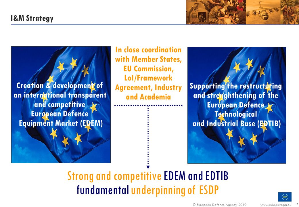 Strong and competitive EDEM and EDTIB fundamental underpinning of ESDP