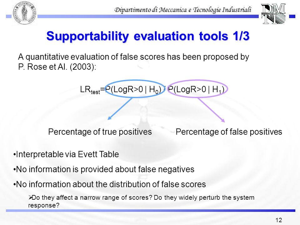 Supportability evaluation tools 1/3