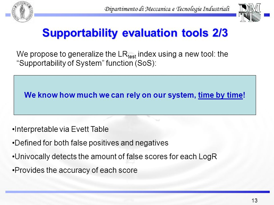 Supportability evaluation tools 2/3