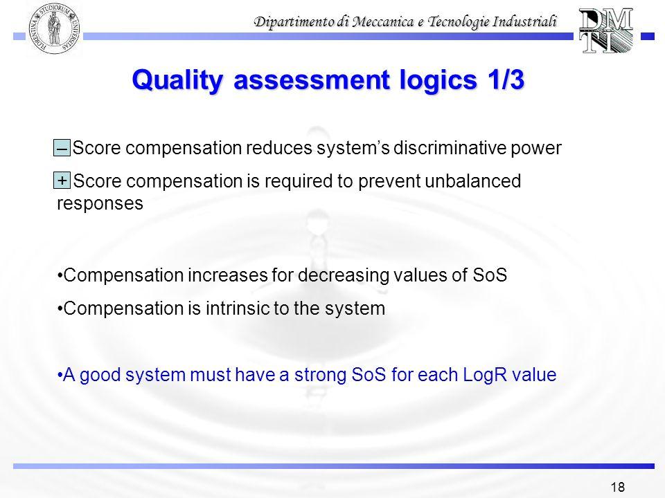 Quality assessment logics 1/3