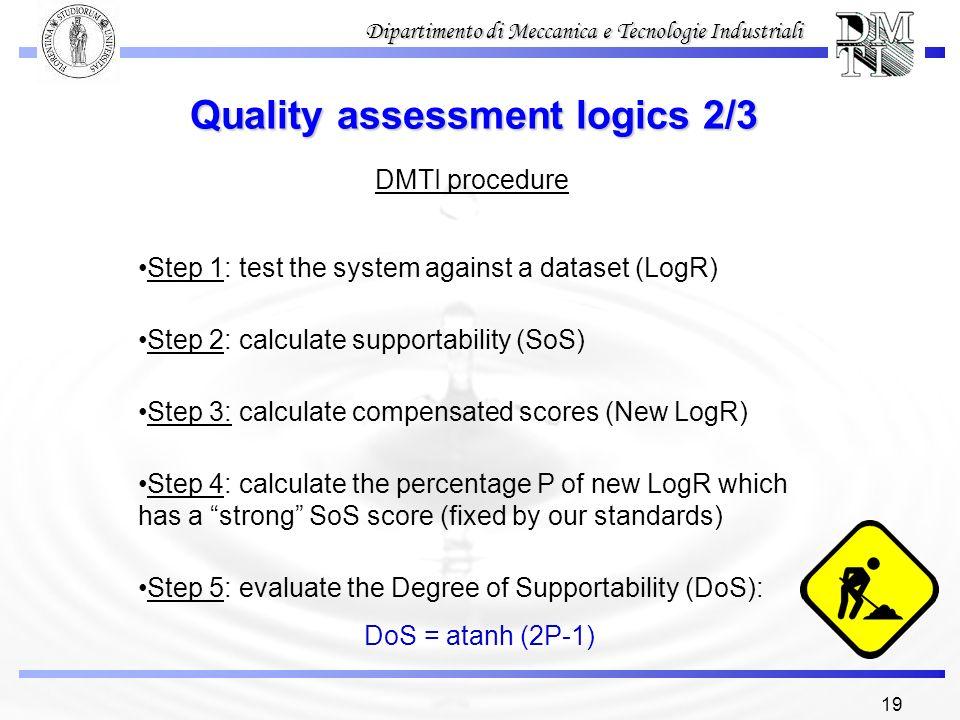 Quality assessment logics 2/3