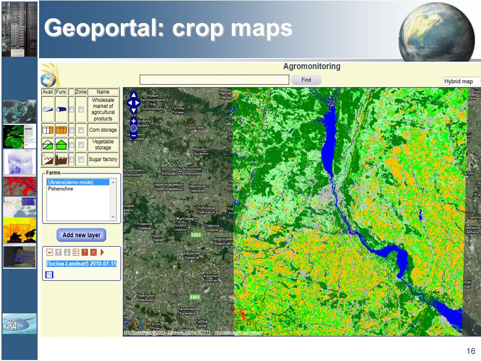 Geoportal: crop maps