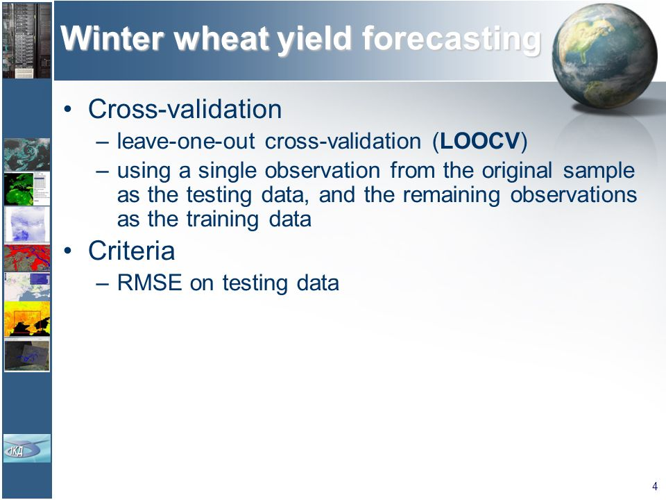 Winter wheat yield forecasting