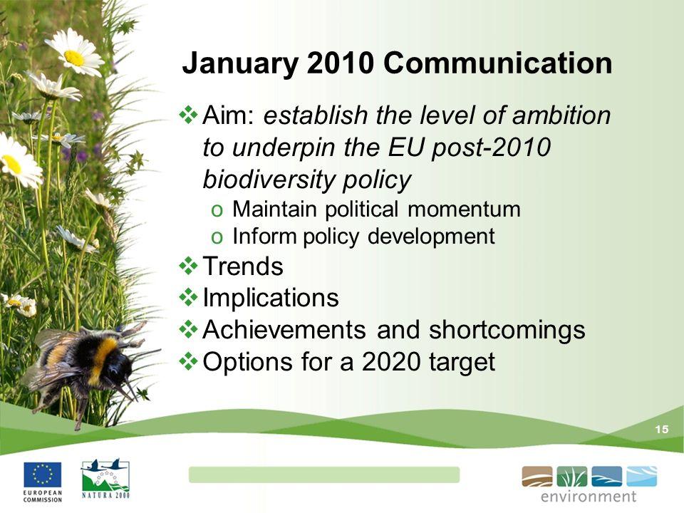 January 2010 Communication