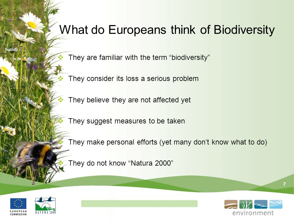What do Europeans think of Biodiversity