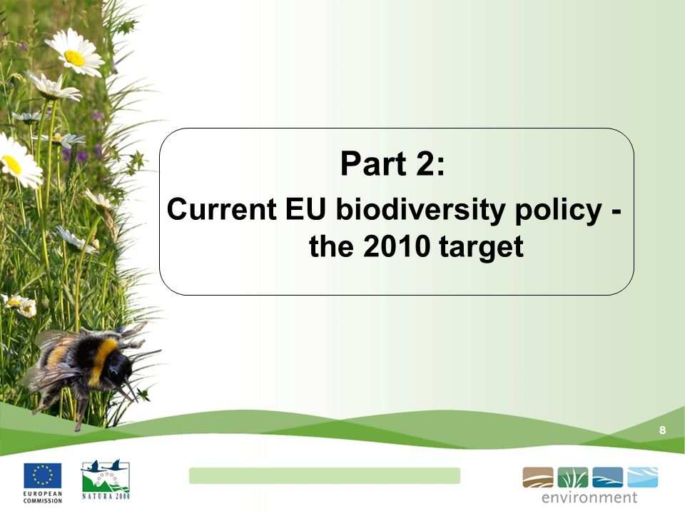 Part 2: Current EU biodiversity policy - the 2010 target