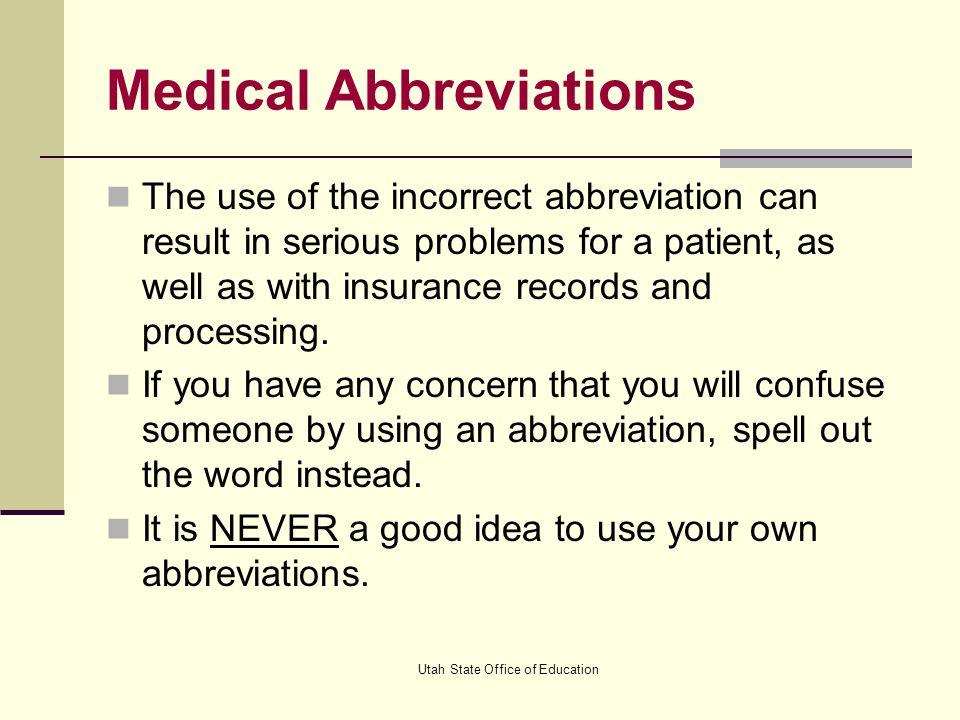 bathroom abbreviation. Medical Abbreviations  ppt video online download