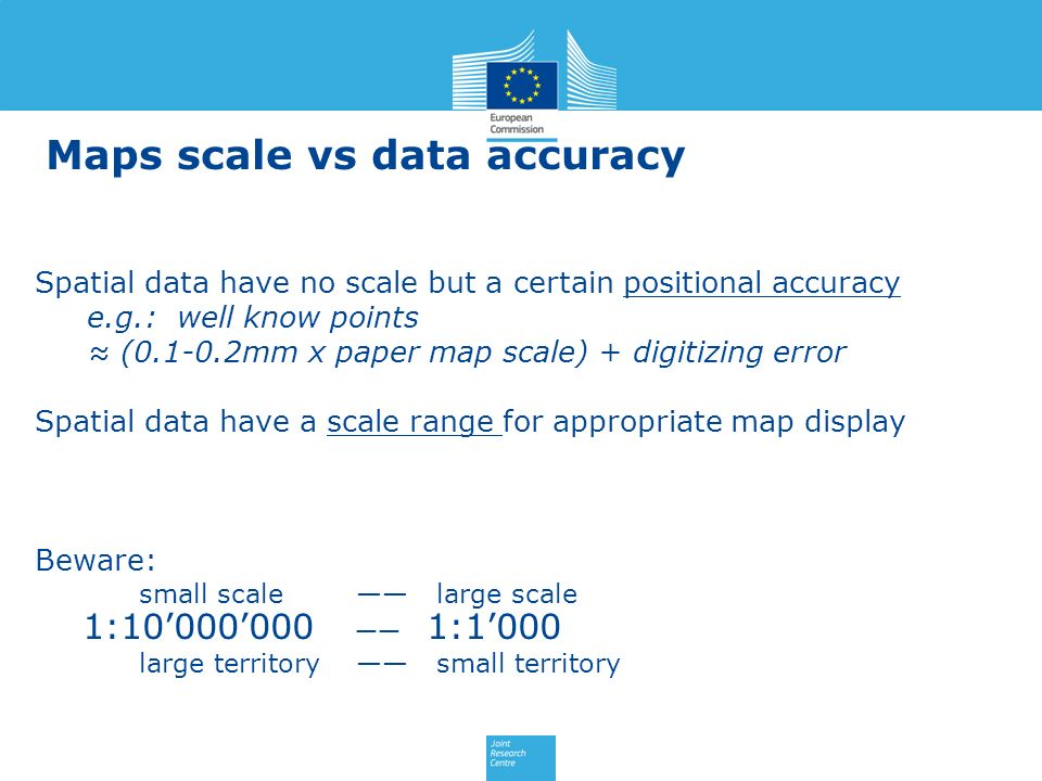Maps scale vs data accuracy