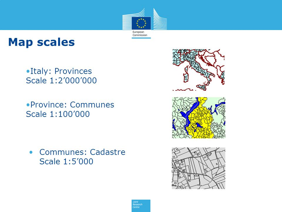 Map scales Italy: Provinces Scale 1:2'000'000