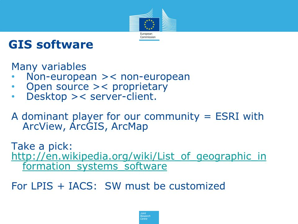 GIS software Many variables Non-european >< non-european