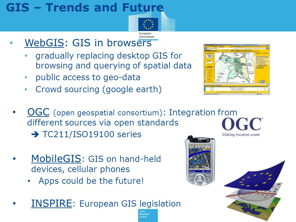 GIS – Trends and Future WebGIS: GIS in browsers