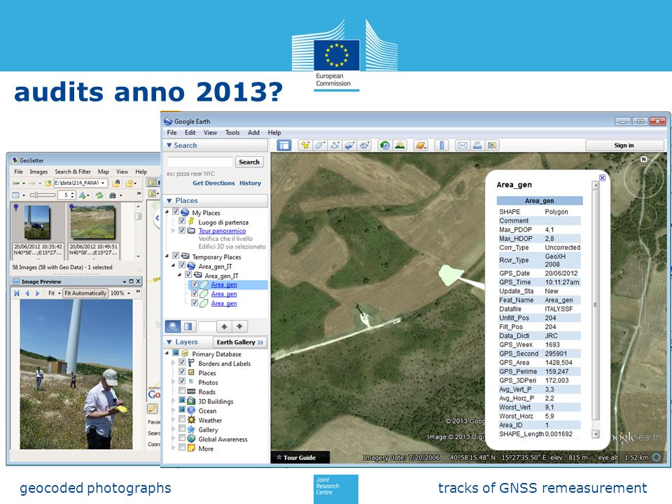 audits anno 2013 geocoded photographs tracks of GNSS remeasurement