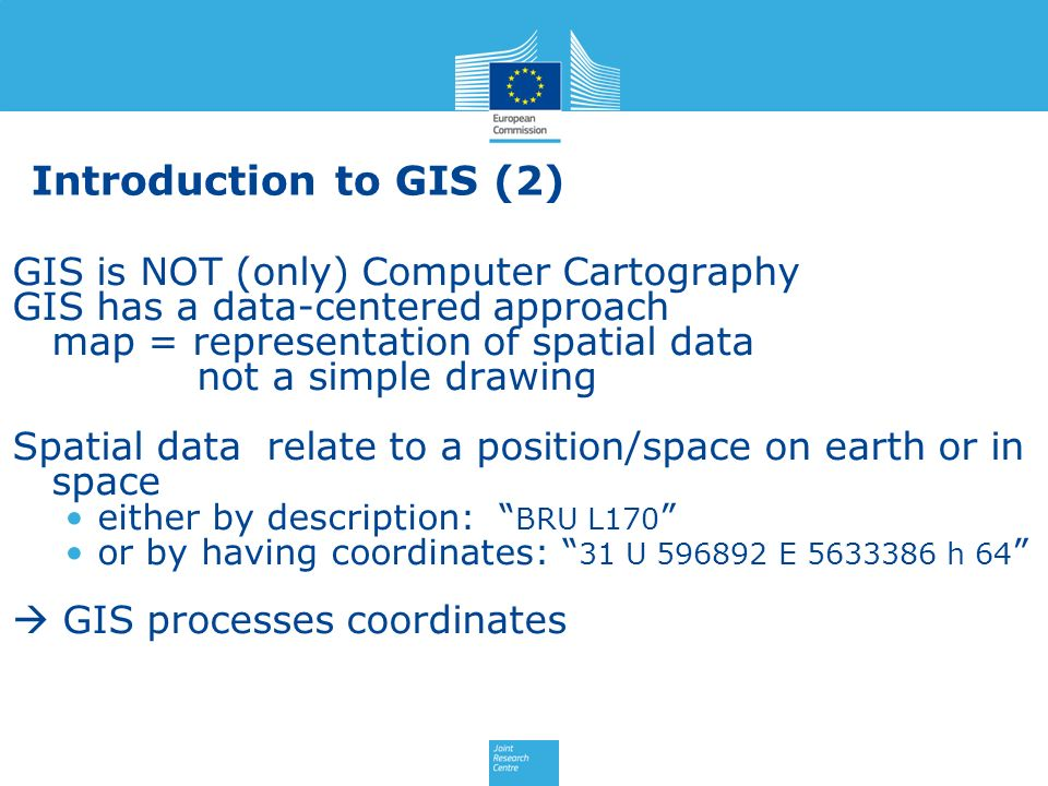 Introduction to GIS (2) GIS is NOT (only) Computer Cartography