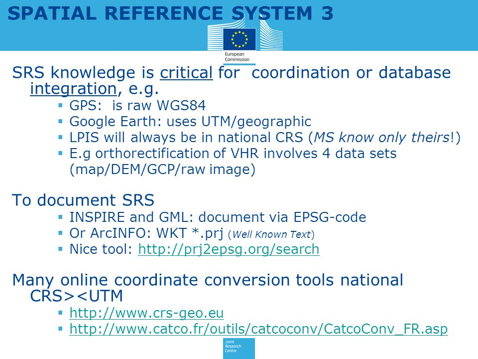 SPATIAL REFERENCE SYSTEM 3
