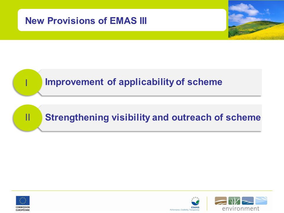 New Provisions of EMAS III