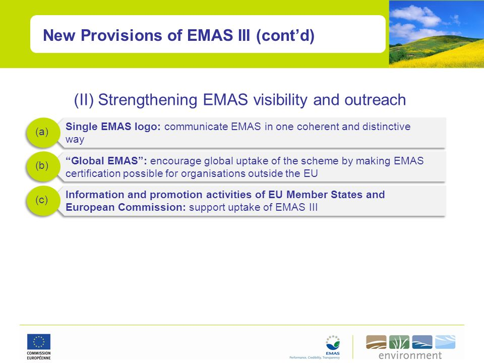 (II) Strengthening EMAS visibility and outreach