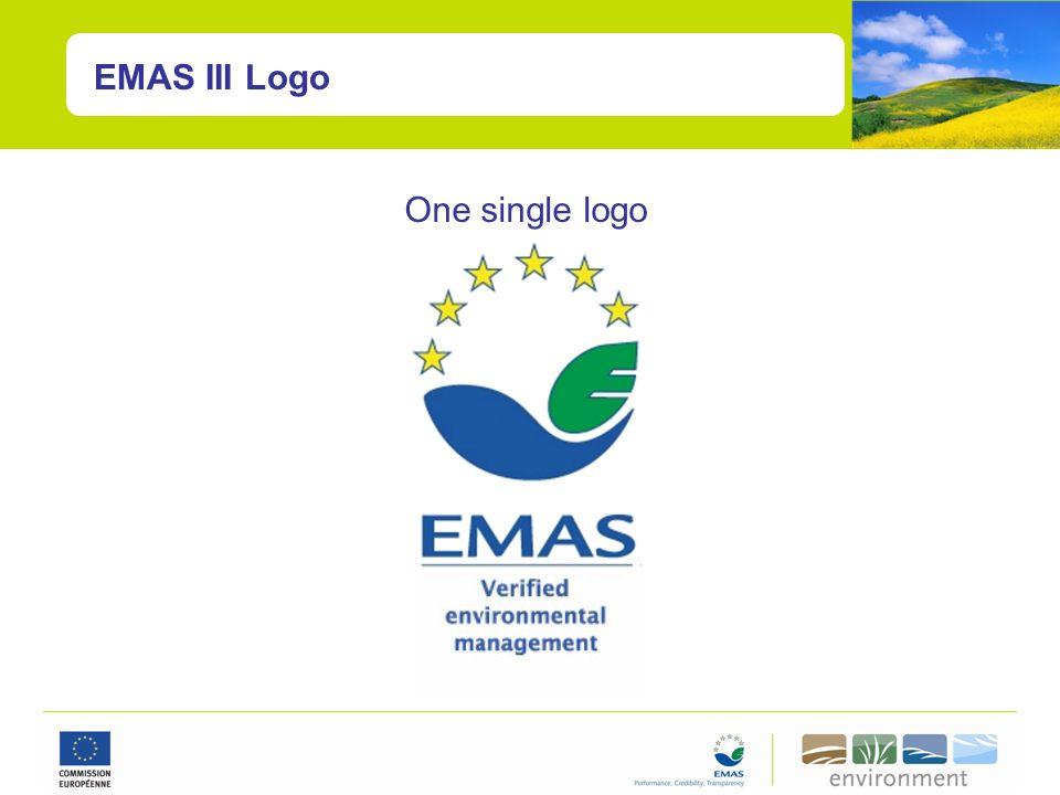 EMAS III Logo One single logo