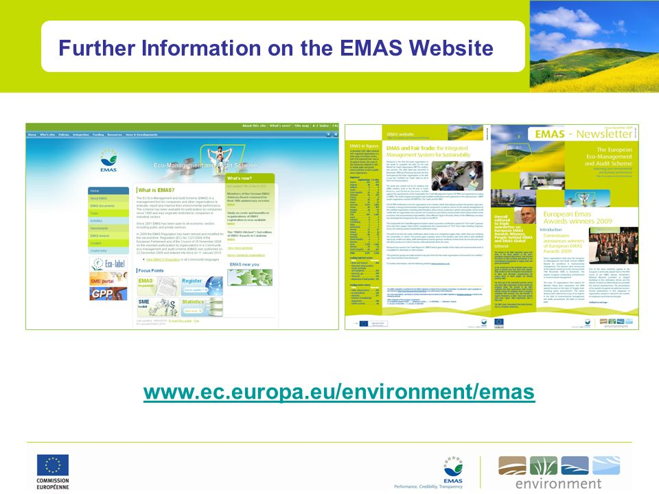 Further Information on the EMAS Website